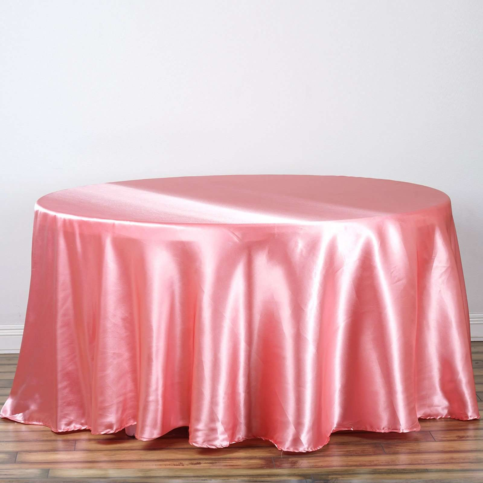 108 In Satin Seamless Round Tablecloth Wedding Party