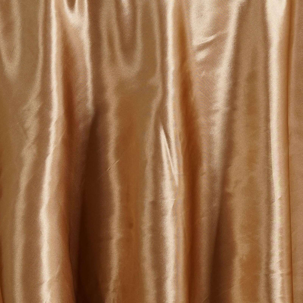 "108"" GOLD Wholesale SATIN Round Tablecloth For Wedding Banquet Restaurant"