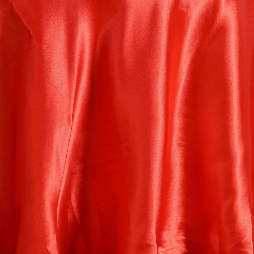 "108"" RED Wholesale SATIN Round Tablecloth For Wedding Banquet Restaurant"