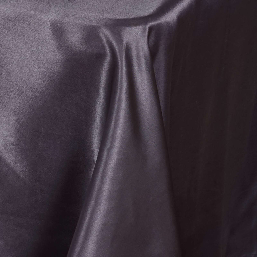 "90x156"" CHARCOAL GREY Wholesale SATIN Banquet Linen Wedding Party Restaurant Tablecloth"
