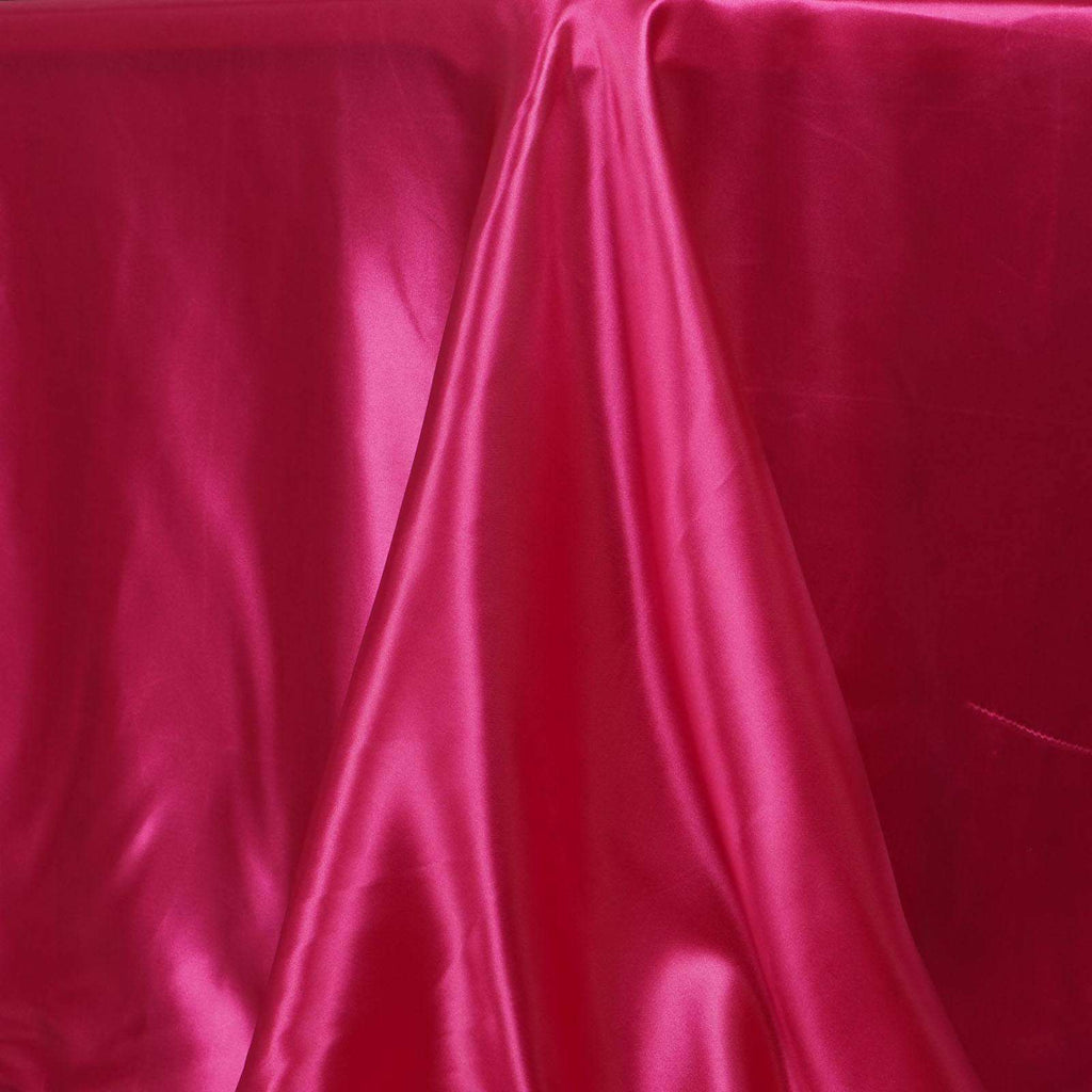 "90x156"" FUSHIA Wholesale SATIN Banquet Linen Wedding Party Restaurant Tablecloth"