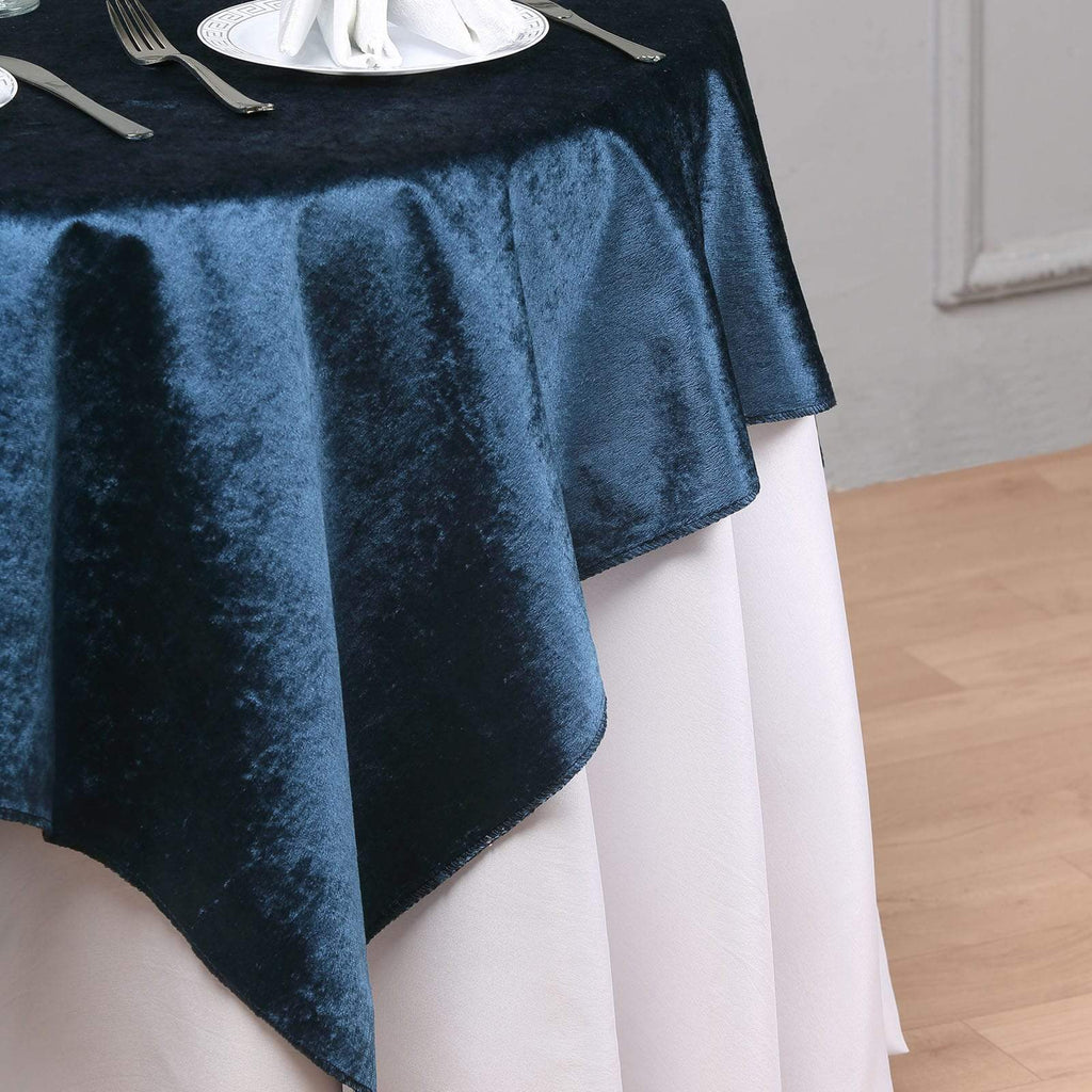 54'' x 54'' | Navy Blue | Premium Velvet Square Tablecloth