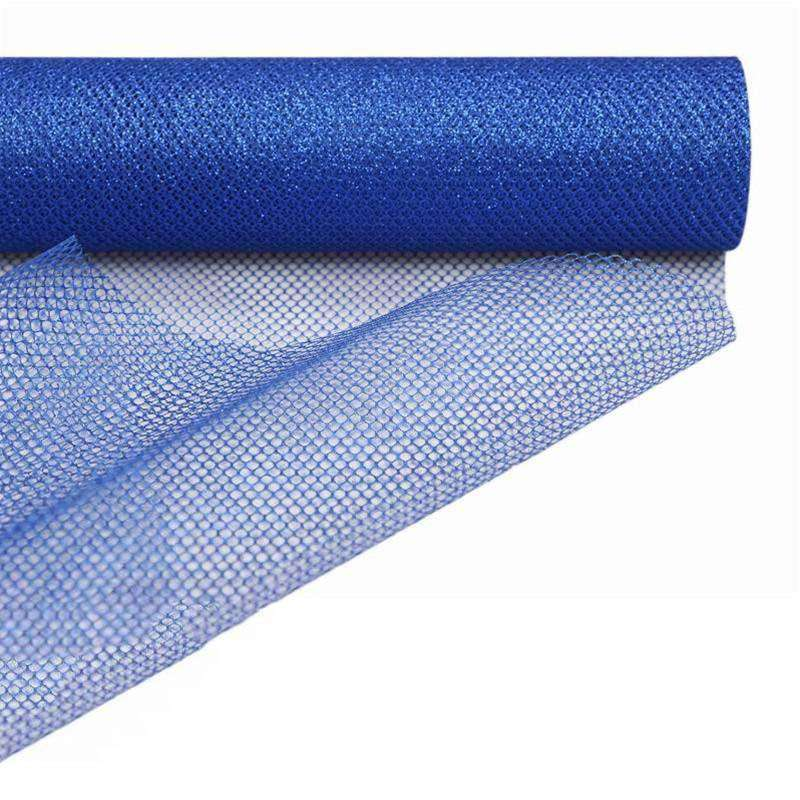 "Stardusted Waffle Tulle Bolt 19"" x 10yards - Royal Blue"