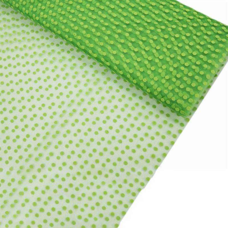 "Dots The Way I Like It Tulle - Apple Green 60""x10yards"