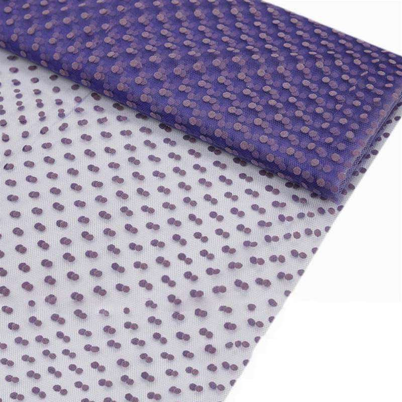 "Dots The Way I Like It Tulle - Purple 60""x10yards"