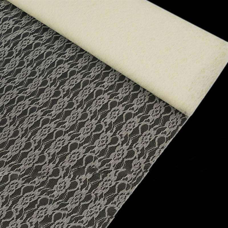 "Fleur Lace Fabric Soft Sheer - Ivory 60"" x 10yards"