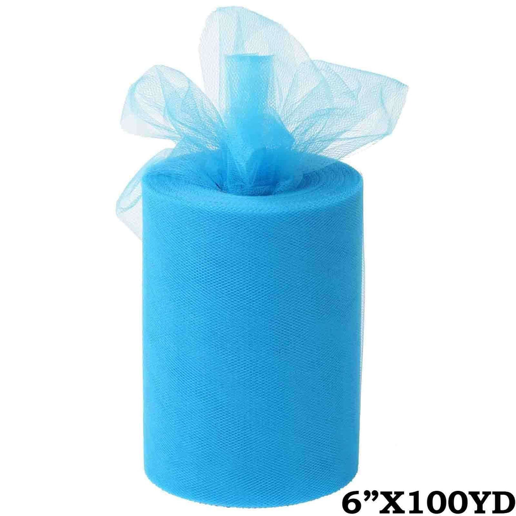 "6""x100yd Tulle Rolls - Turquoise"