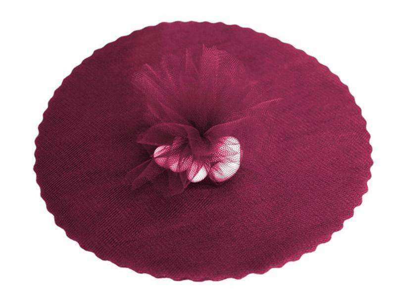 "9"" Tulle Circle Wrap - Burgundy/25pk"