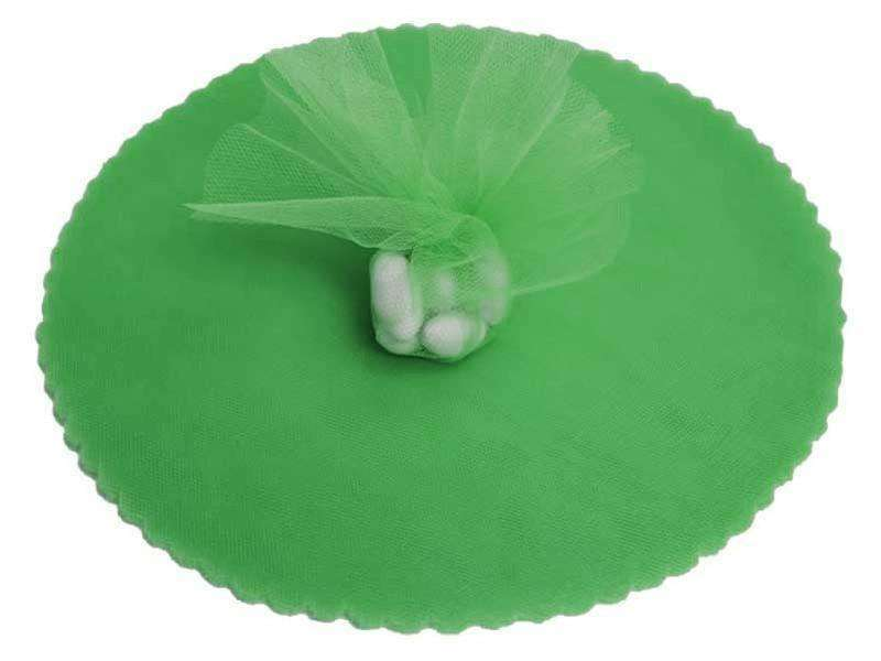 "9"" Tulle Circle Wrap - Green/25pk"