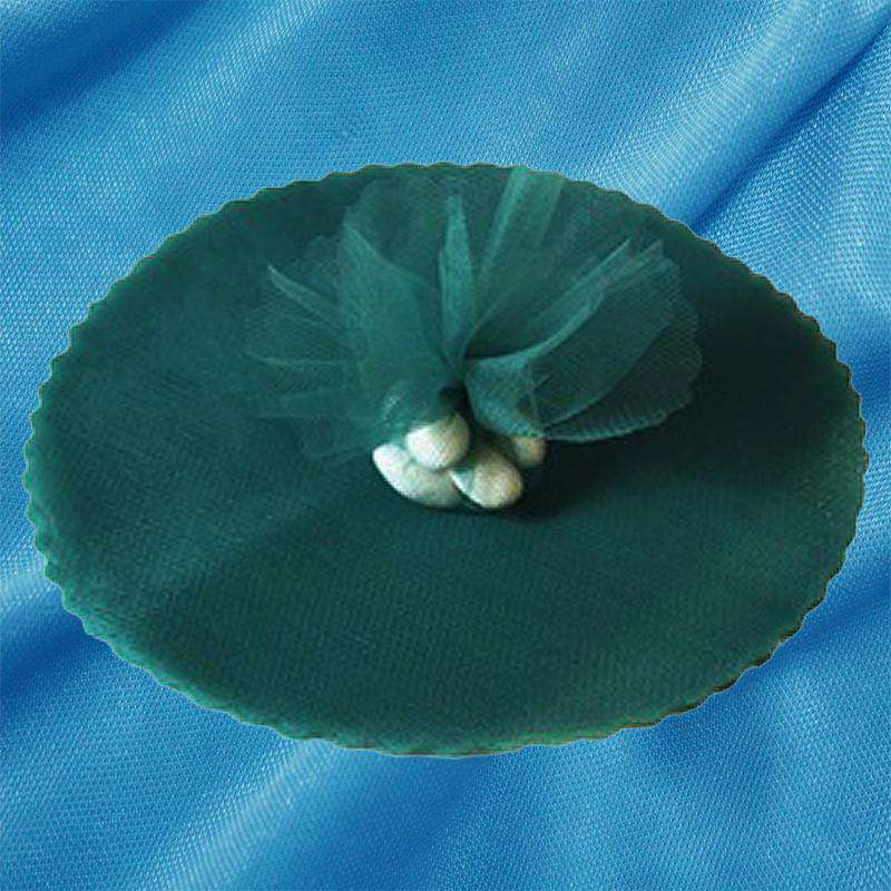 "25 Pack 9"" Hunter Green Tulle Round Circle Wedding Birthday Shower Party Gift Wrap"