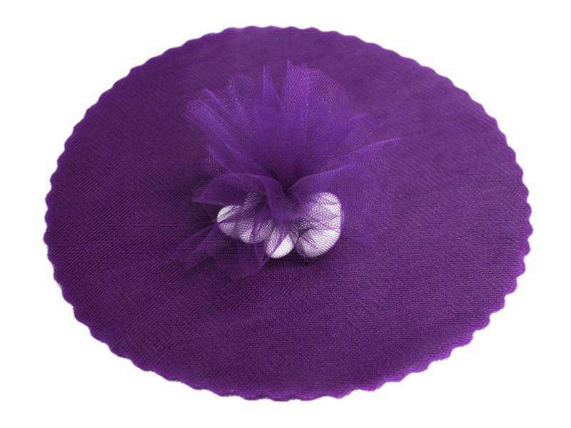 "9"" Tulle Circle Wrap - Purple/25pk"