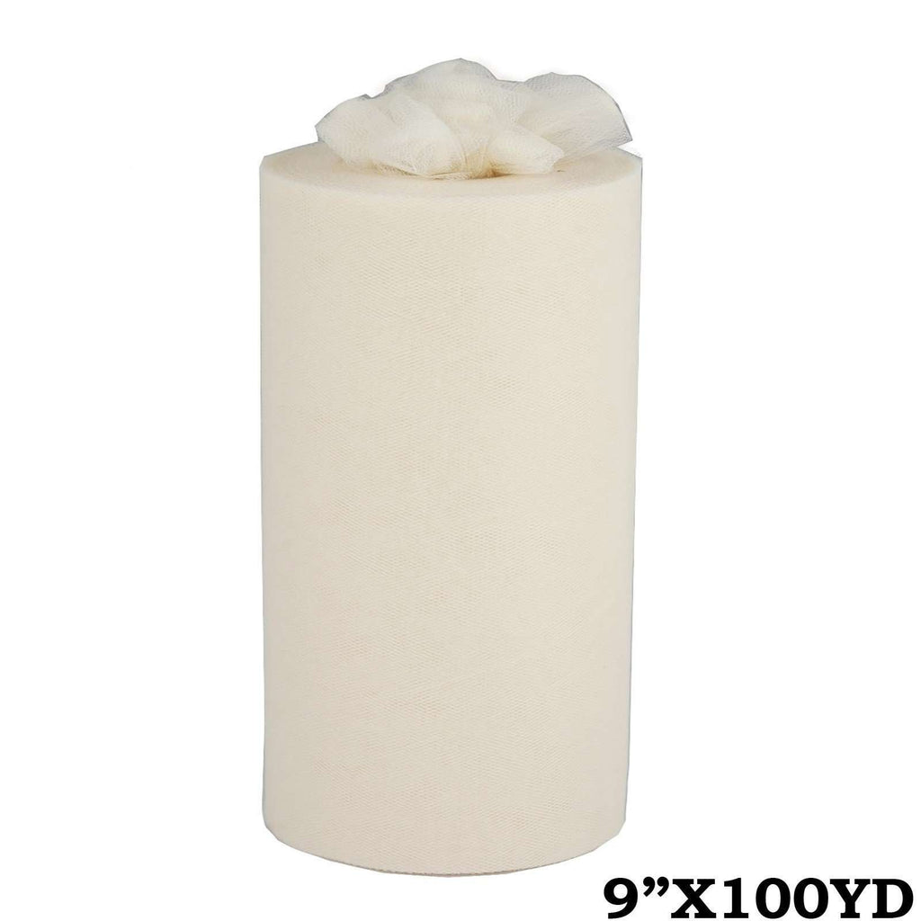 "9""x100yd Tulle Rolls - Ivory"