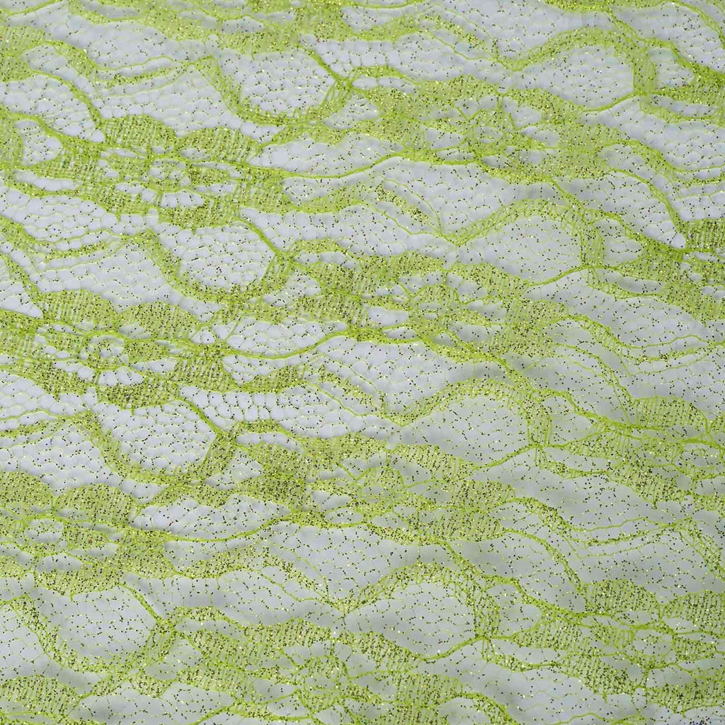 "Floral Shimmer Lace Glitter Tulle Fabric Roll-Tea Green- 54""X15 YARDS"