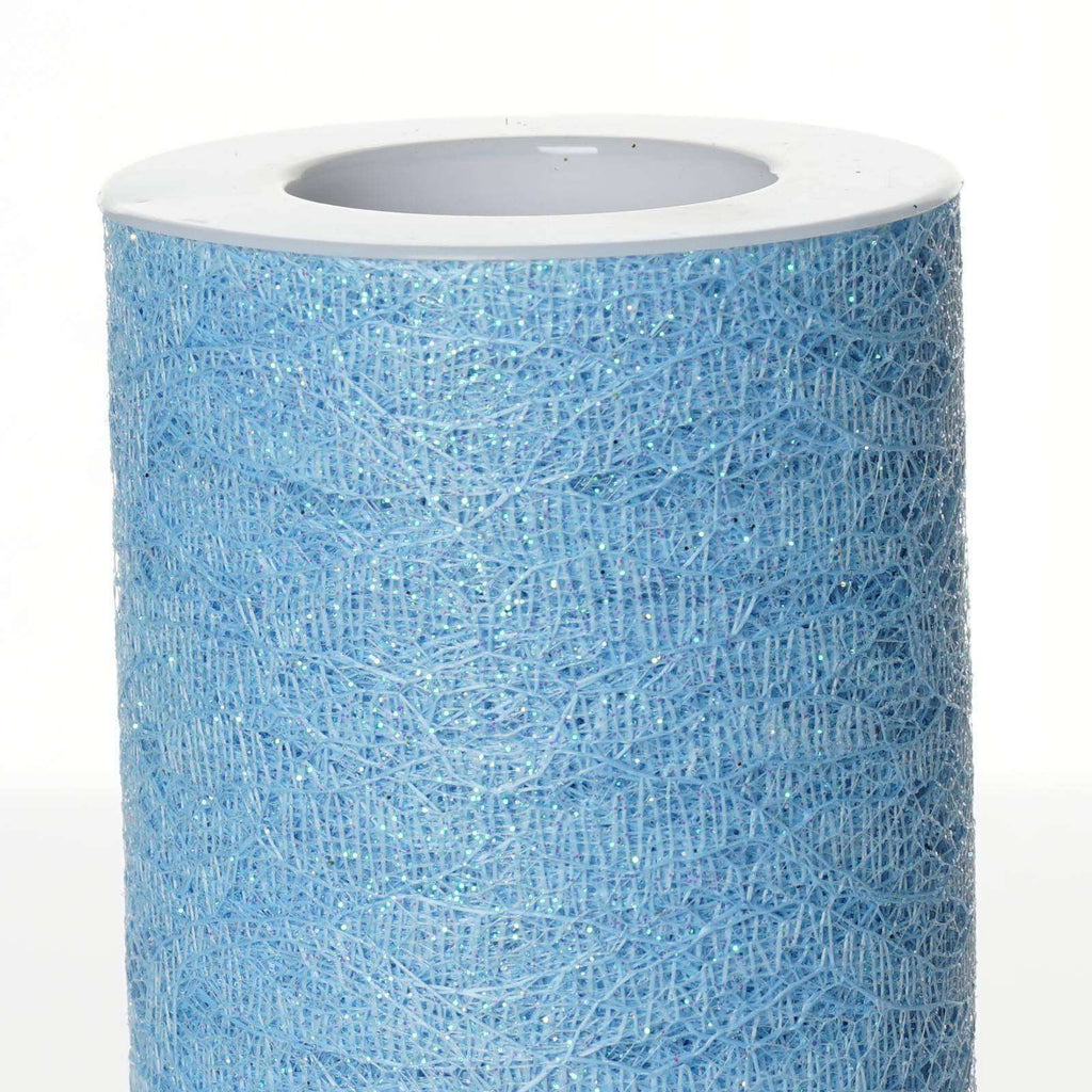 "Floral Shimmer Lace Glitter Tulle Fabric Roll-Serenity- 6""X10 YARDS"