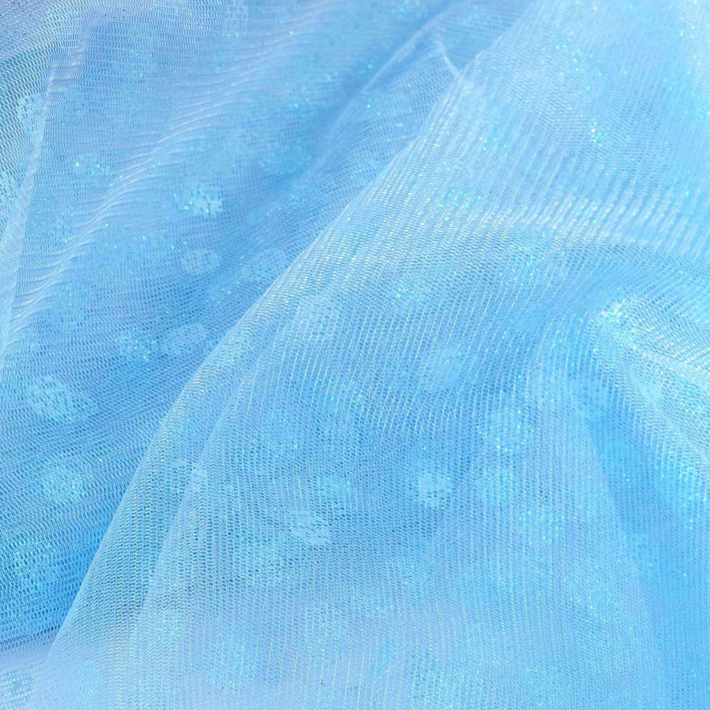 Glittered Polka Dot Tulle Fabric -Serenity- 54 x 15 Yards