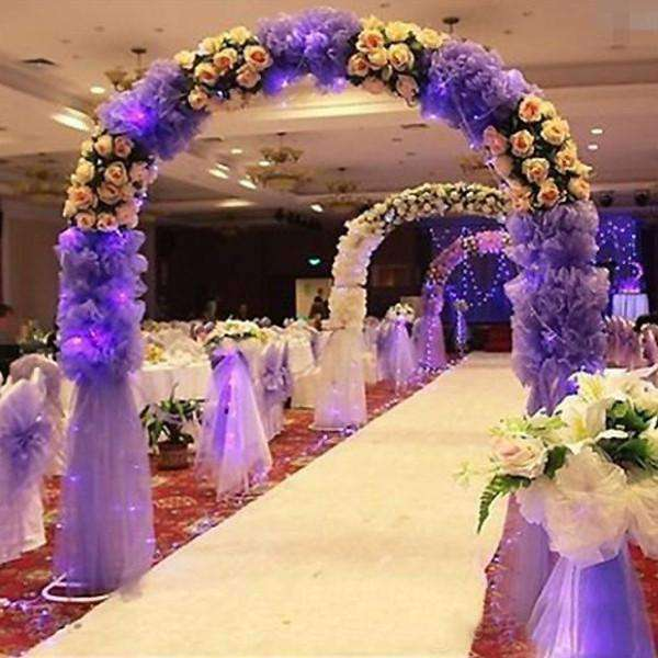 "54""x15 Yards Purple Sequin Dot Sheer Tulle Fabric Bolt Wedding Drape Panel Stage Decor"