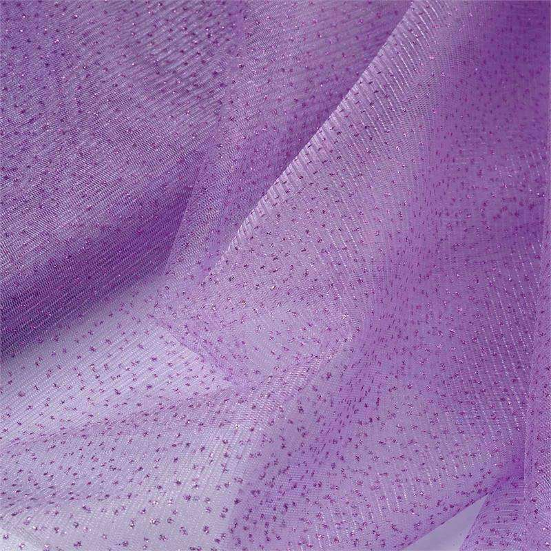 "Shimmering Glitter Sparkle Dot Tulle Fabric-Lavender-54""x15 Yard"