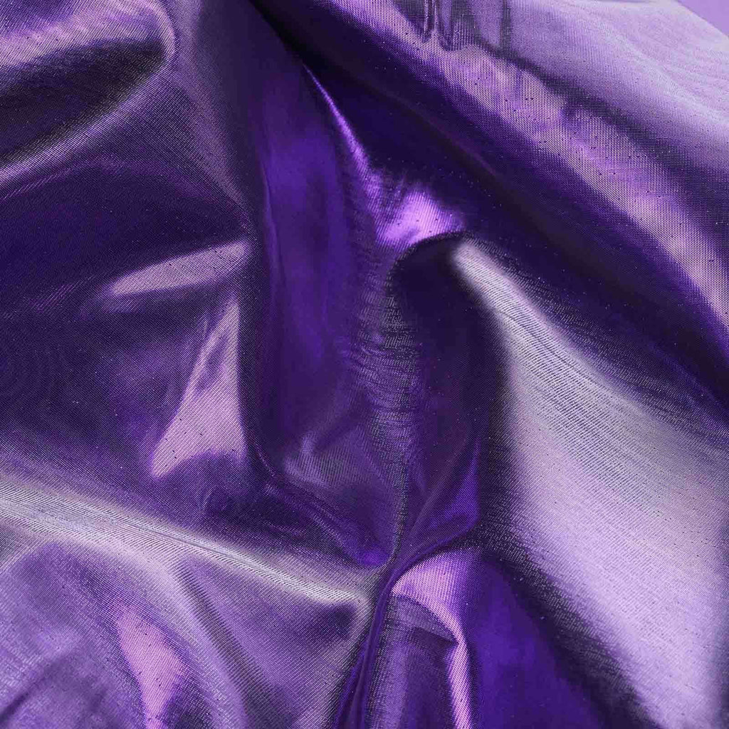 "Glossy Premium Polyester Party Wedding Tulle Fabric Bolt By Yard- PURPLE - 54"" x 10 Yards"