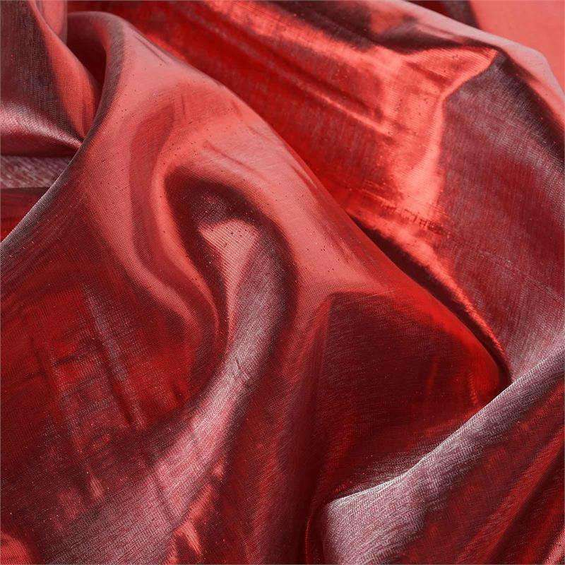 "Glossy Premium Polyester Party Wedding Tulle Fabric Bolt By Yard- RED - 54"" x 10 Yards"
