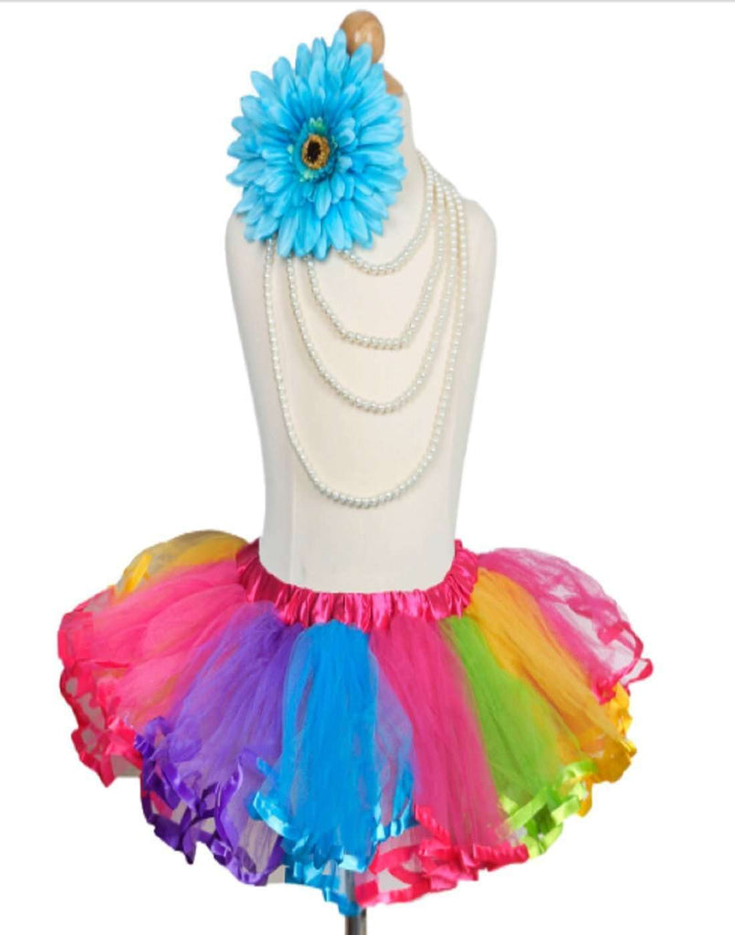 4 Layered Fuchsia Rainbow Tutu Skirt
