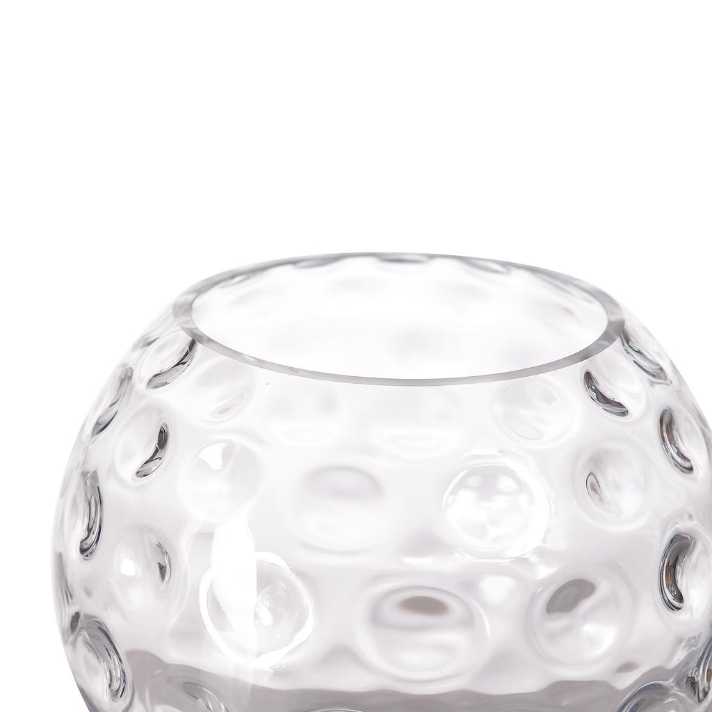 "2 Pack | 8"" Hobnail Clear Glass Vase Terrariums 