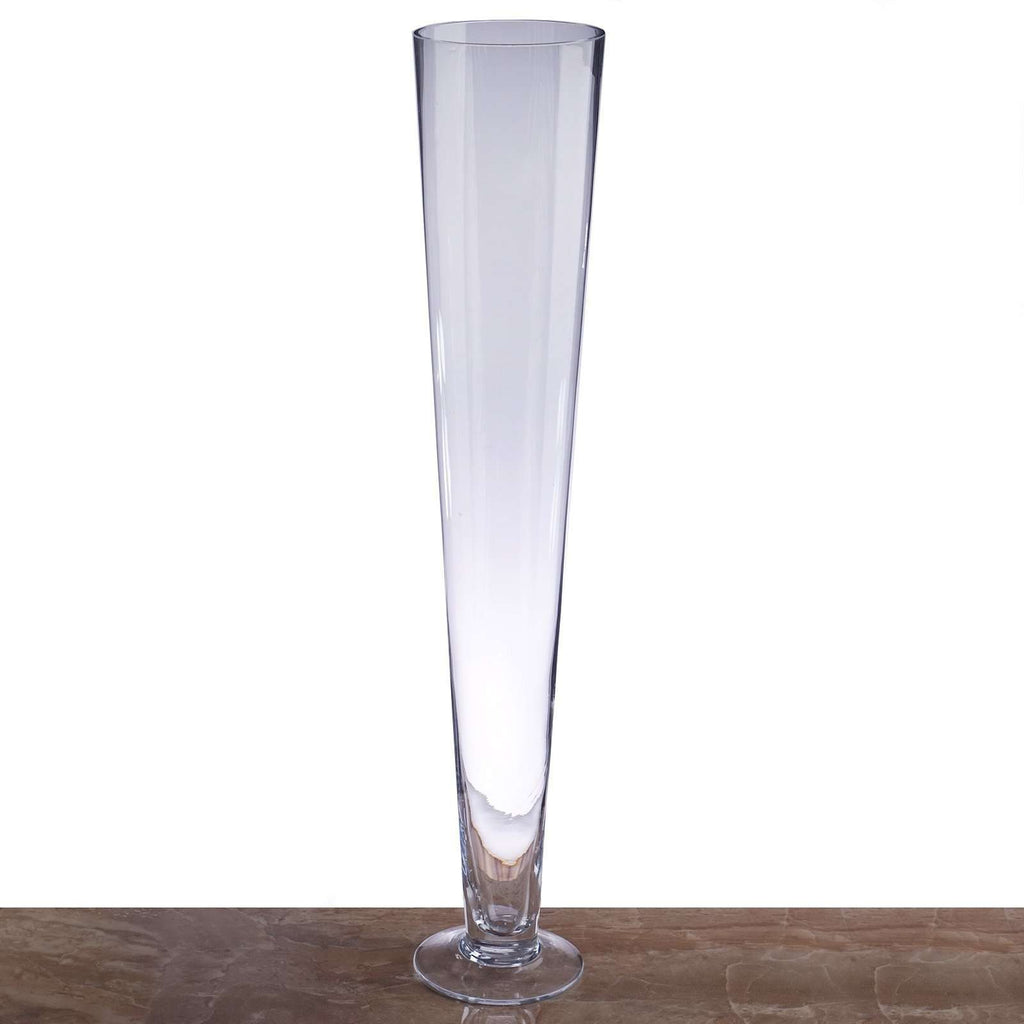 "6 Pack | 20"" Heavy Duty Trumpet Glass Vase Flower Decoration Centerpiece"