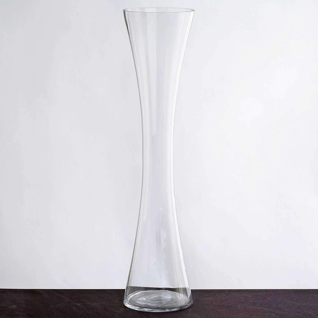 "6 Pack | 24"" Heavy Duty Hour Glass Vase Flower Centerpiece"
