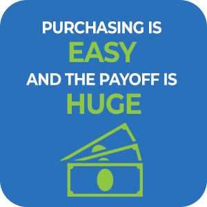 Purchasing is easy and the payoff is huge.