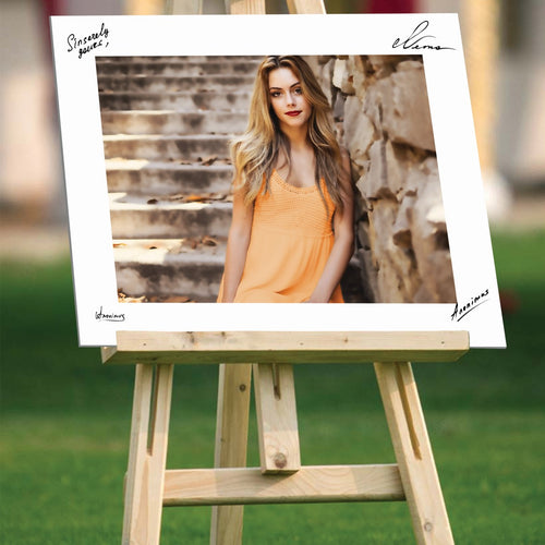 Graduate custom photo on easel