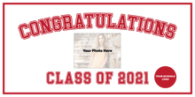 Custom High School Graduation Banner for Fundraiser
