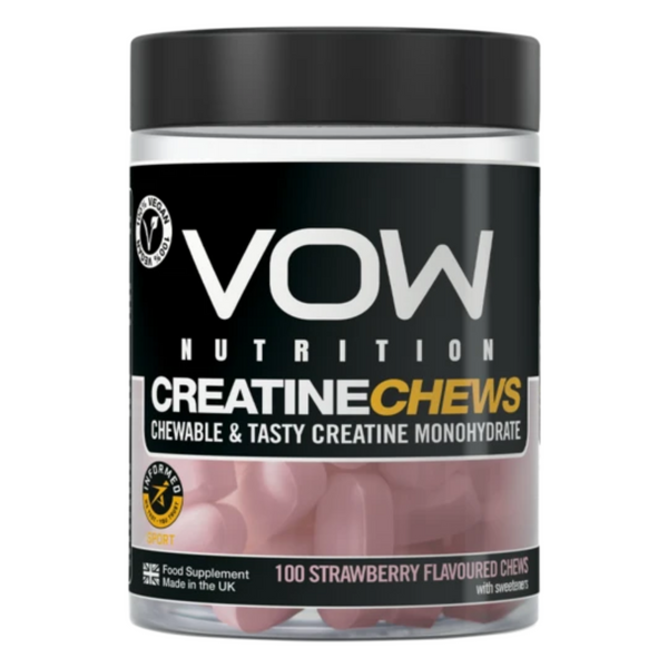 VOW Creatine Chews Strawberry Flavour Supplements Sports Simon Evans Physiotherapy