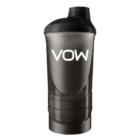VOW Three Compartment Shaker Supplements Sports Simon Evans Physiotherapy