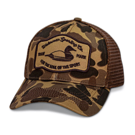 old school camo duck hunting hat