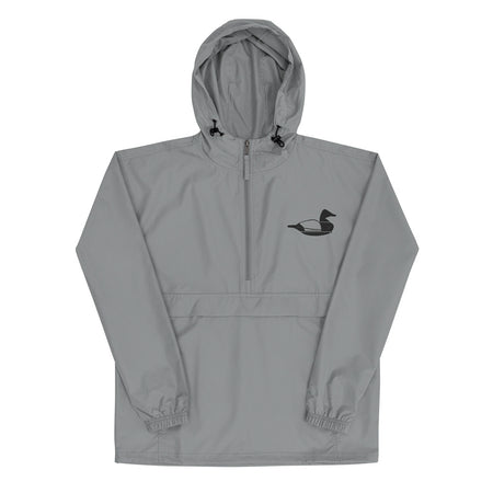 grey layout boat diver duck hunting rain jacket