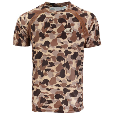 Vintage Duck Camo Performance Tee S/S