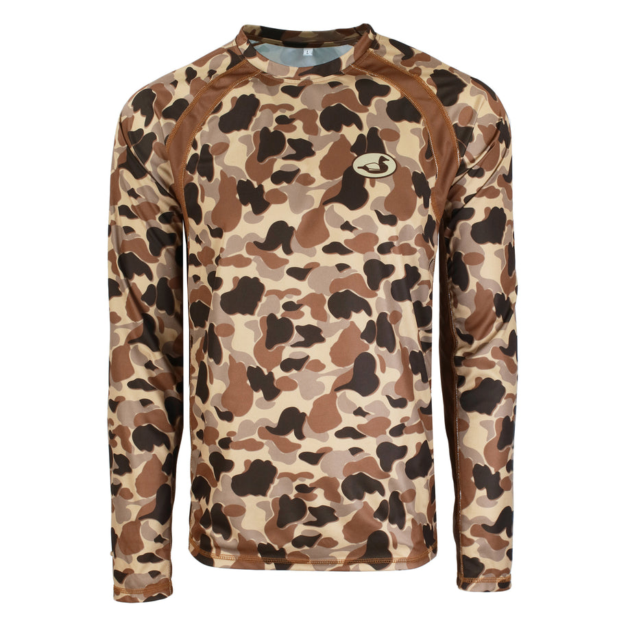 Vintage Duck Camo Performance Tee L/S
