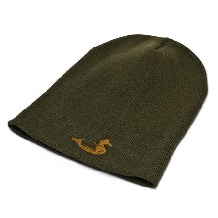 Olive duck, goose, and waterfowl hunting beanie.