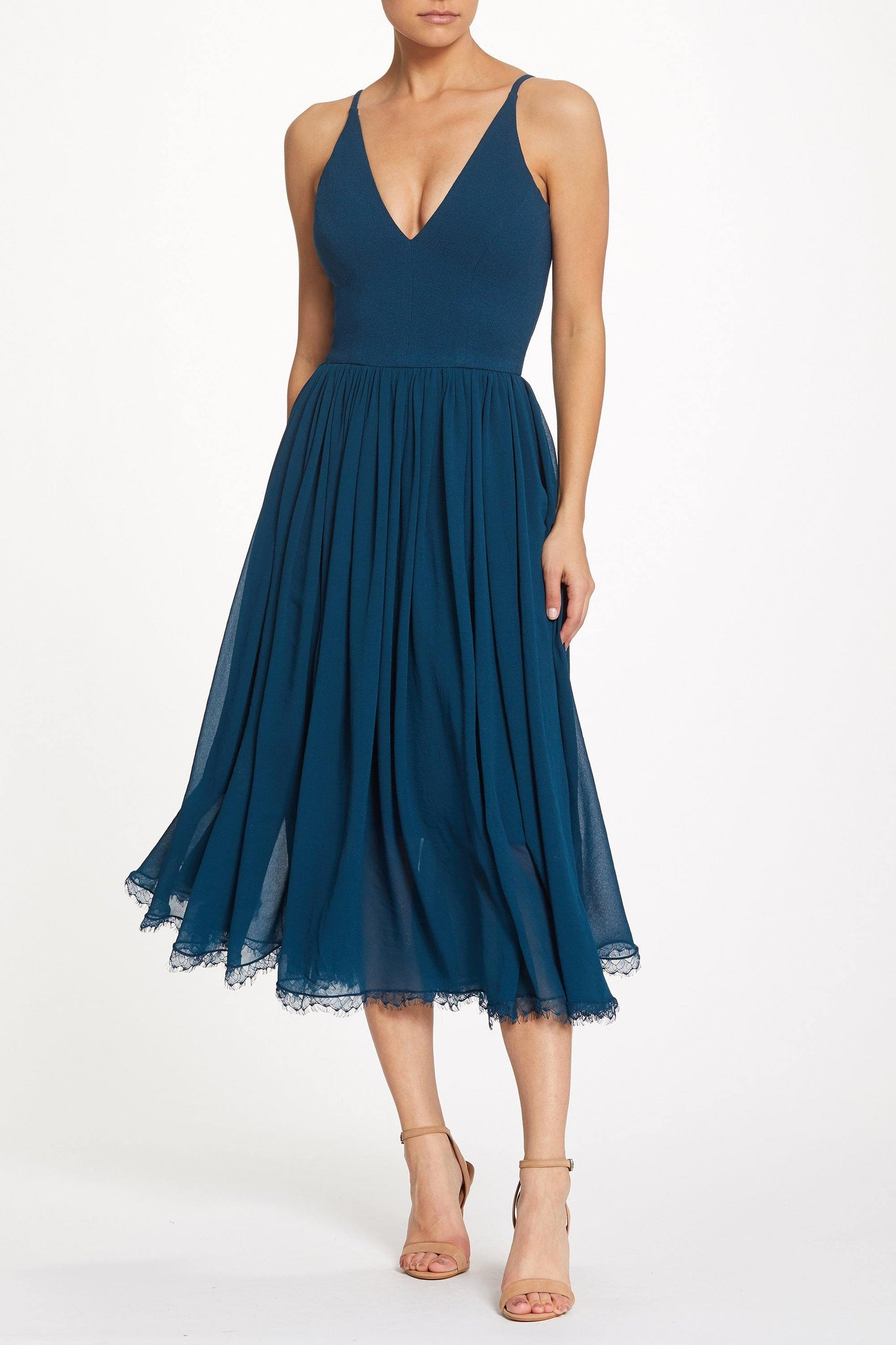 Alicia Chiffon Fit and Flare Midi Dress