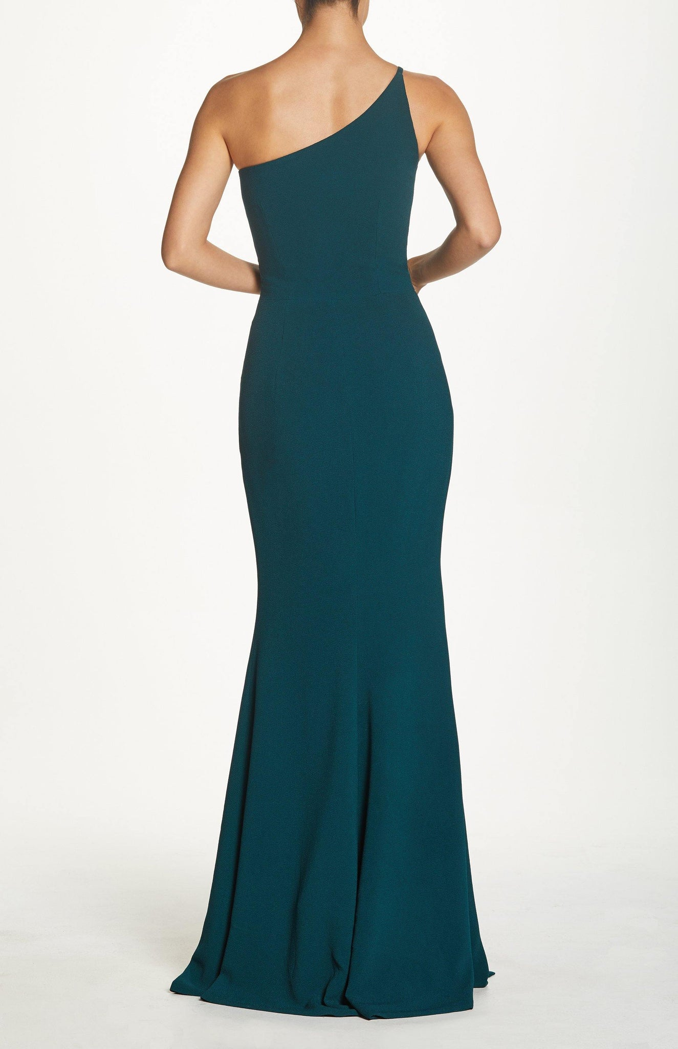 Amy One Shoulder Mermaid Crepe Gown