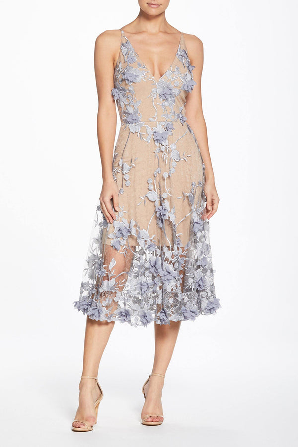 Audrey Plunging Midi Dress-FINAL SALE