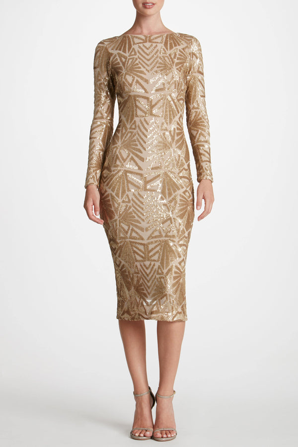 Emery Art Deco Sequin Midi Dress-XL-FINAL SALE