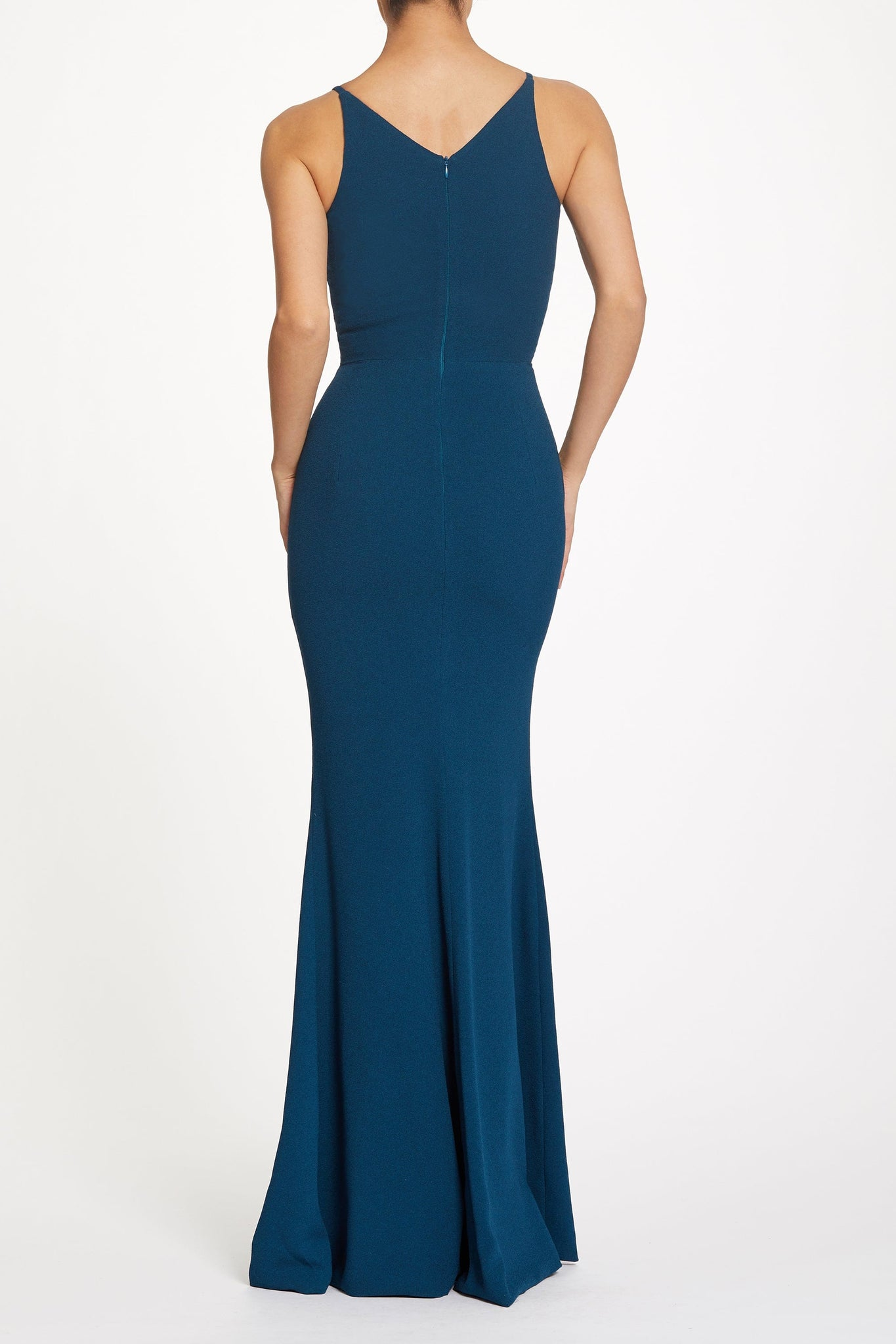 Iris Crepe Side Slit Gown