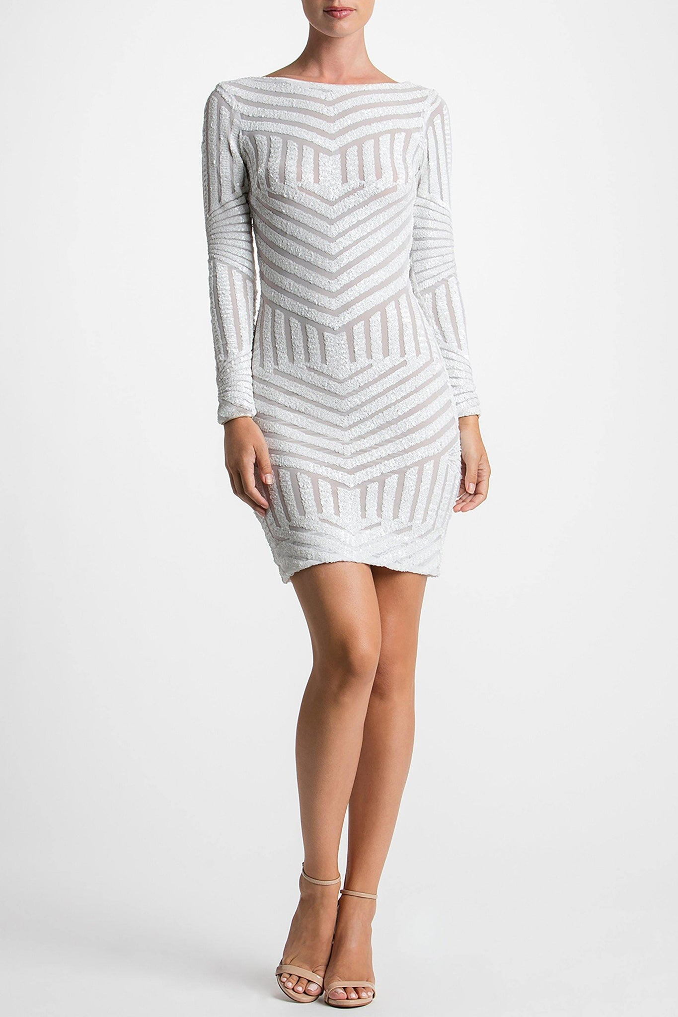 Lola Geometric Stripe Sequin Mini - FINAL SALE