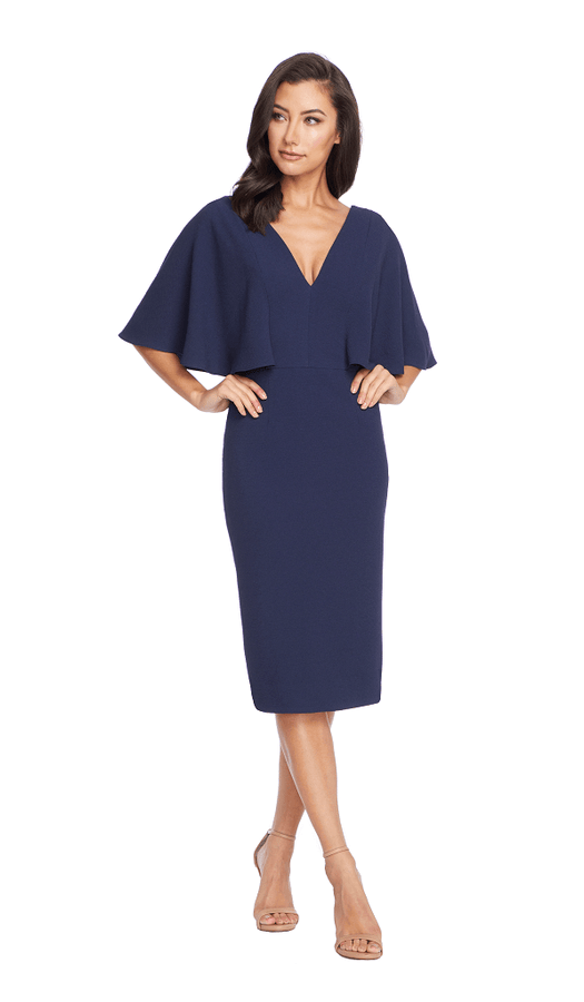 Louisa V-Neck Flutter Sleeve Sheath Dress
