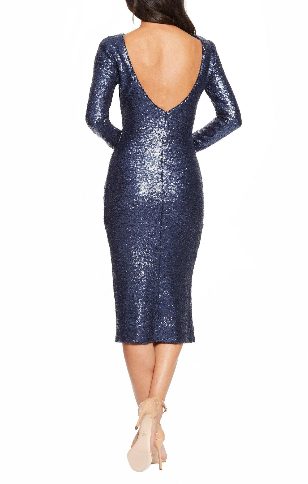 Natalie High Neck Body Con Midi