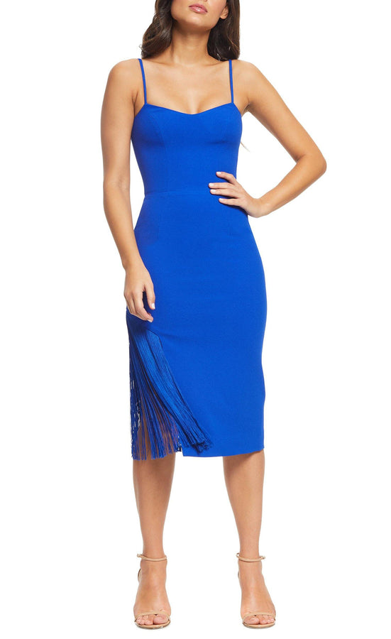 Rory Fringe Midi Dress-FINAL SALE