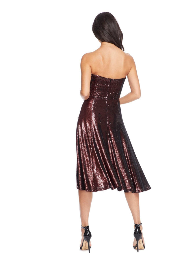Ruby Strapless Sequin Party Dress