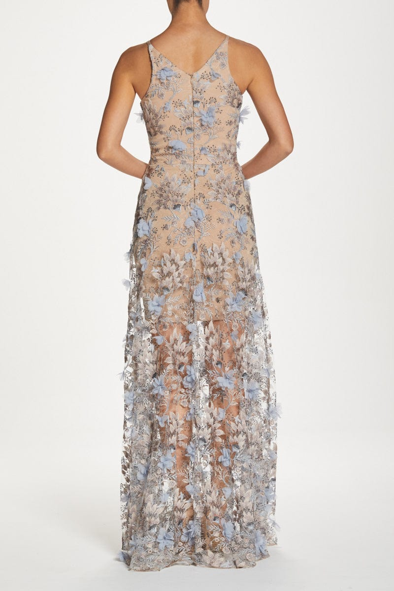 Sidney Embroidered Floral Lace Gown