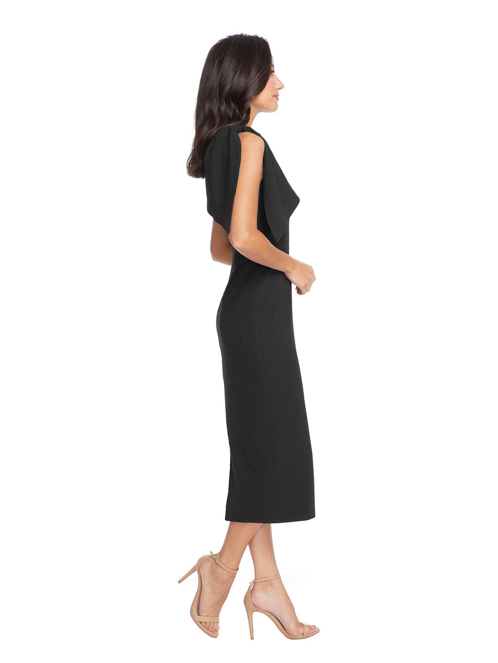 Tiffany One Shoulder Crepe Midi