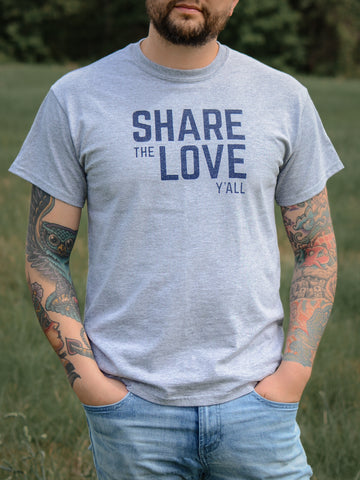 Share the Love Y'all - Athletic T-Shirt
